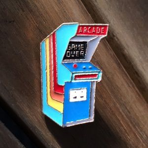 Cute Classic Arcade Machine / Game Enamel Pin for sale